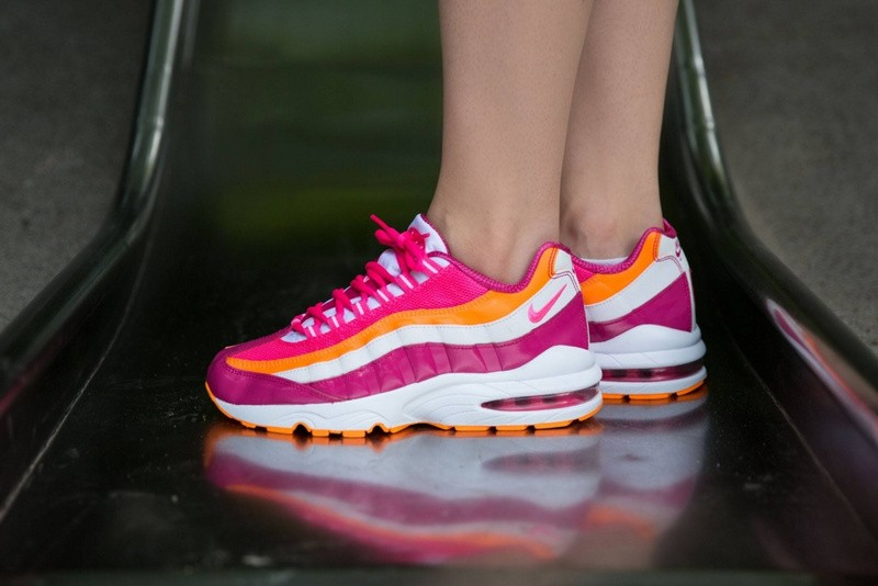better 50% price fast delivery Authentique Chaussures Femme Nike Air Max 95 Gs Rose 310830 ...