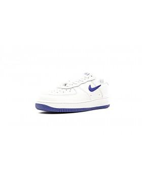 low priced 992b0 0f352 ... Nike Air Force 1 Low Jewel Swoosh Mercury Chaussures 600668-108 Bleu  Mercury Blanche