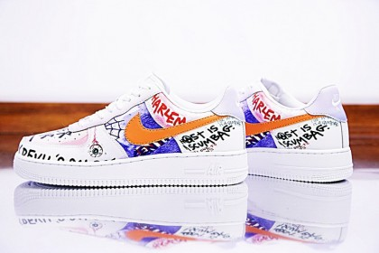 huge discount 3cce2 e773d Chaussures Edc A Ap Vlone X Nike Air Force 1 Low Customs Graffiti Unisex  923066